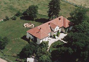 Somogytúr - Somogytúr, mansion from a bird's eye view