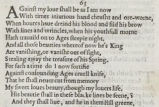 Sonnet 63 poem by William Shakespeare