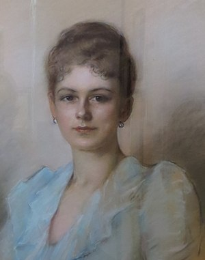 Sophie, Duchess of Hohenberg - Pre-1910 pastel painting of Sophie, held at Artstetten Castle Museum.