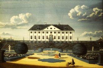 Sorgenfri Palace - Sorgenfri in 1742