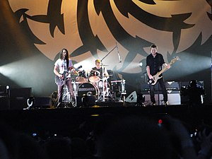 Soundgarden - Soundgarden performed at Lollapalooza in 2010. (L-R: Cornell, Cameron, and Shepherd. Not pictured: Thayil.)
