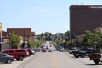 Campbell County, Wyoming - Downtown Gillette on South Gillette Avenue looking south
