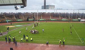 Spain national rugby union team - Spain playing against Portugal.