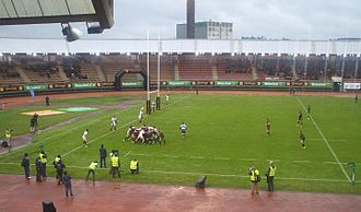 Spain national rugby union team - Spain playing against Portugal in 2013.
