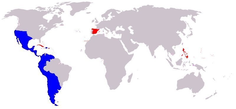 Spanish Empire - 1824