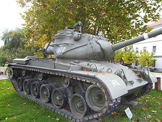 Mutual Defense Assistance Act - M47 Patton tank provided to Francoist Spain under NATO's MAP