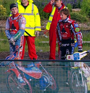 Belle Vue Aces - Darcy Ward, as a guest, and James Wright