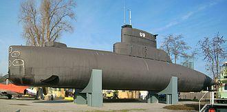 German submarine U-9 (S188) - Museum ship U-9 in the Technikmuseum Speyer.