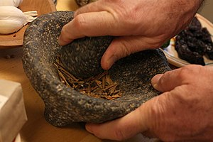 Molcajete - Molcajete used to grind spices