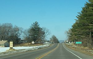 Spring Green, Wisconsin - Image: Spring Green Wisconsin Sign WIS23
