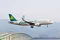 Spring Airlines, 9C8777, Airbus A320-214, B-1896, Arrived from Chongqing, Kansai Airport (17009657508).jpg