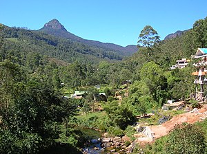 English: Sri Pada mountain (Adam's Peak) on th...
