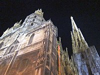 St. Stephen's Cathedral by night, Vienna - panoramio.jpg