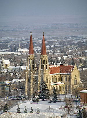 St Helena Cathedral in Helena, Montana, USA; p...