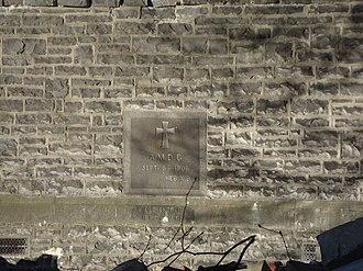 St Luke's Church, Christchurch - Foundation stone of St Luke's Church