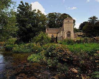 St Michael and St Martins Church, Eastleach Martin Church in Gloucestershire, England