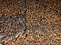 Stacks of firewood,Wood wall 薪 やしろの森公園 DSCF8679.JPG