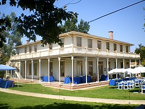 Newbury Park, California - The historic Stagecoach Inn was used by travelers between Los Angeles in the south and Santa Barbara to the north as a stagecoach station.