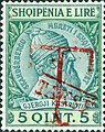 Stamp of Albania - 1914 - Colnect 376666 - Overprinted T and Takse in red.jpeg