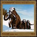 Stamp of Russia 2012 No 1614 Mammoths by A Kovalchuk.jpg