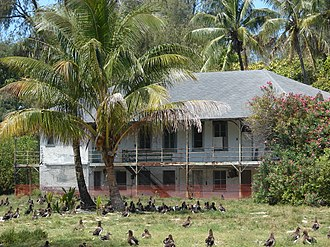 Midway Atoll - The buildings of the Commercial Pacific Cable Company date back to 1903 (2008).