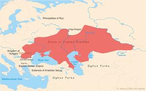 Cumans - Cuman-Kipchak confederation in Eurasia circa 1200