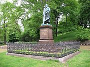 Statue of Gauss in his birthplace of Brunswick.