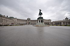 Statue of Archduke Charles of Austria on the Heldenplatz (Heroes' Square).jpg