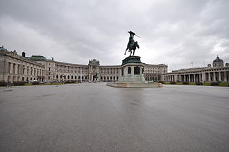 Tomb of the Unknown Soldier - Image: Statue of Archduke Charles of Austria on the Heldenplatz (Heroes' Square)