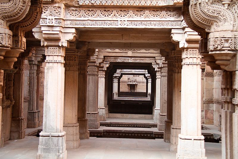 File step well with relief carving gujarat india g