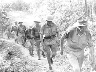 Chinese Expeditionary Force - Stilwell retreating from Burma to India, May 1942.