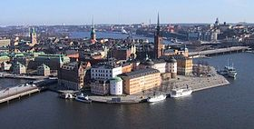 Skyline of City of Stockholm