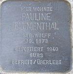 Stolperstein Böchingen Blumenthal Pauline geb Wolff.jpeg