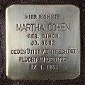 Stolperstein Duisburger Str 2a (Wilmd) Martha Cohen.jpg