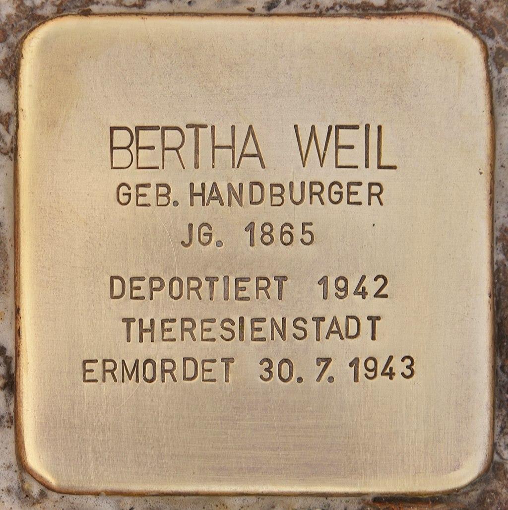 Stolperstein für Bertha Weil (Mühlhausen in der Oberpfalz).jpg