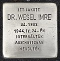Stolperstein für Dr. Imre Wesel (Szombathely).jpg