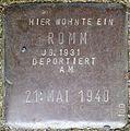 Stolpersteine Köln, Romm, Stein-Nr. 100 (Holzmarkt 1).jpg
