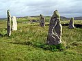 Stone Circle at Ceann Hulavig (Callanish IV) - geograph.org.uk - 1258326.jpg