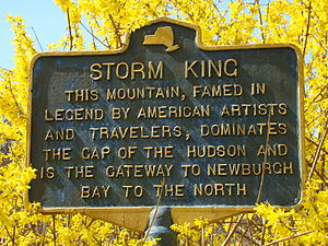 Storm King Mountain (New York) - Historical marker off Rte 293 adjacent the West Point golf course