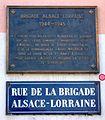 Strasbourg, plaque commémorative Brigade Alsace Lorraine.jpg