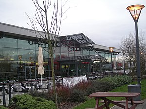 Strensham services - The southbound services building.