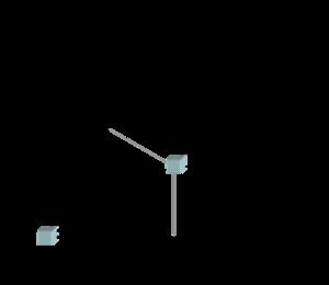 Prinzip der Laue-Bedingung: Nur bei bestimmten Verhältnis von $ \vec(r), \vec(k) $ und k' interferieren die beiden Strahlen konstruktiv
