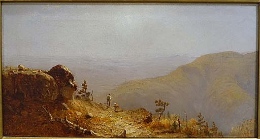 Study for the View from South Mountain in the Catskills, by Sanford Robinson Gifford, 1873, oil on canvas - Portland Museum of Art - Portland, Maine - DSC04202