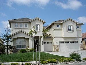 English: Suburban tract house in California