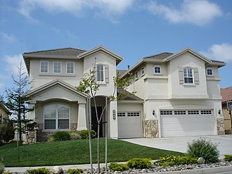 American middle class - An upscale home in Salinas, California.
