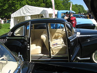 BMW 501 - Coach doors led to a luxurious interior