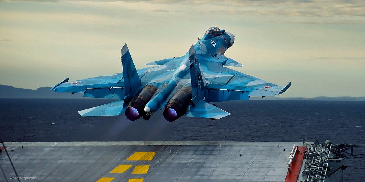 Sukhoi Su-33 launching from the Admiral Kuznetsov.jpg