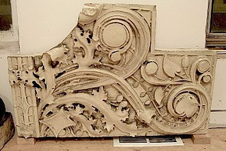 Glazed architectural terra-cotta - White glazed Sullivanesque, circa 1925. Randalls Lost NYC collection
