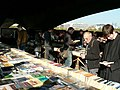 Sunday bookstall, under Waterloo Bridge - geograph.org.uk - 602605.jpg
