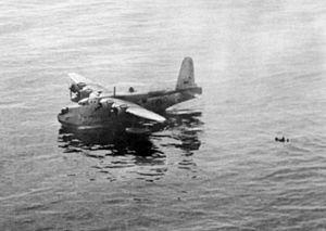 Sunderland 10 Sqn RAAF rescueing Wellington crew 1944.jpg